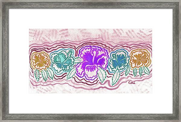 Hibiscus 1003 Framed Print