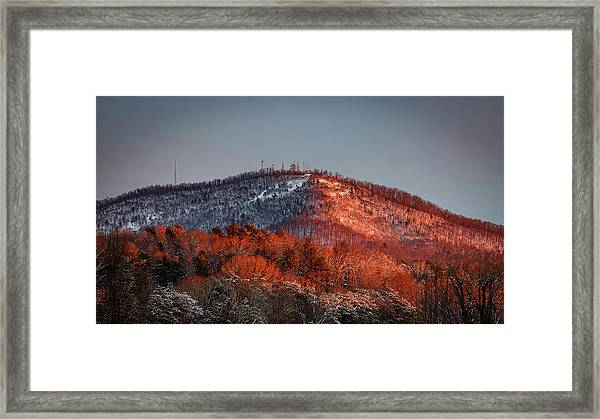 Hibriten Mountain - Lenoir, North Carolina Framed Print