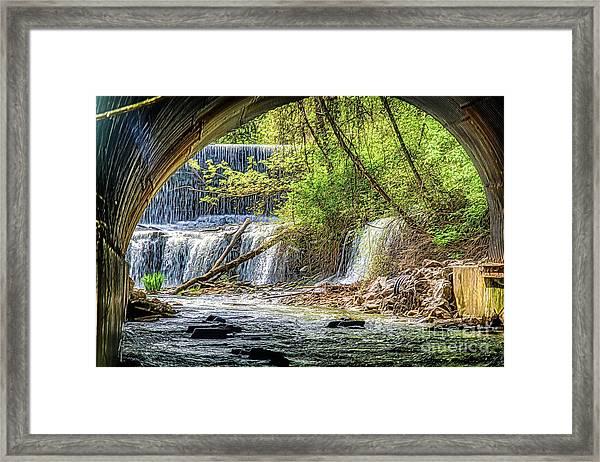 Hidden Falls Framed Print