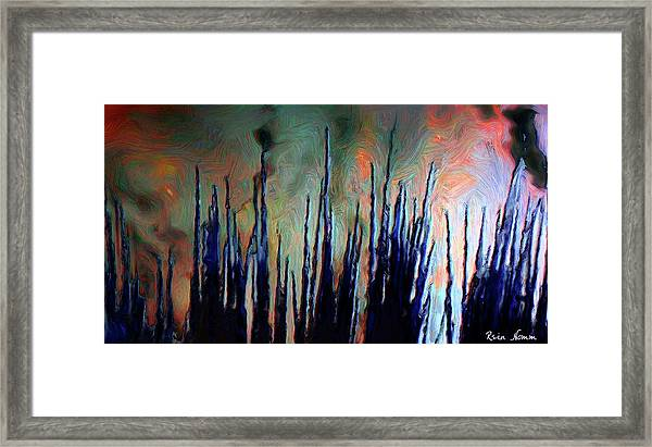 Hiding In The Tall Grass Framed Print