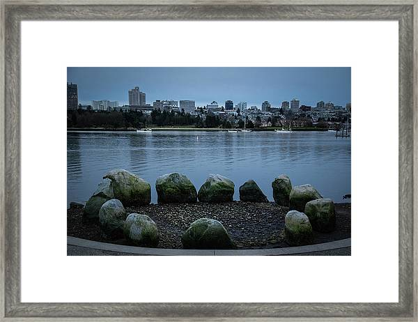 Framed Print featuring the photograph High And Low Tide by Juan Contreras