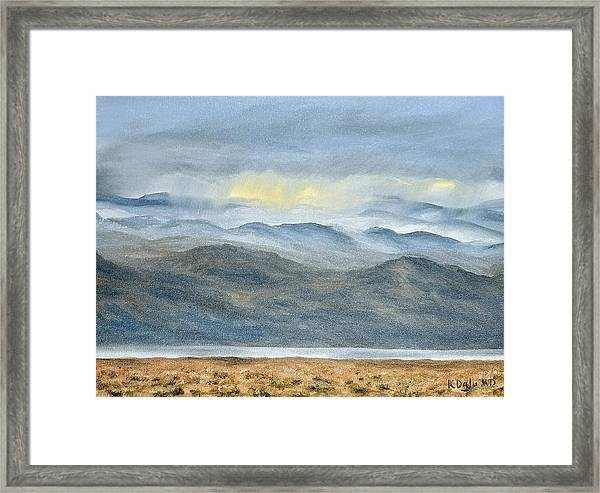 Framed Print featuring the painting High Desert Morning by Kevin Daly