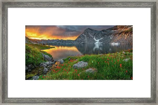 High Mountain Morning In Idaho Framed Print by Leland D Howard
