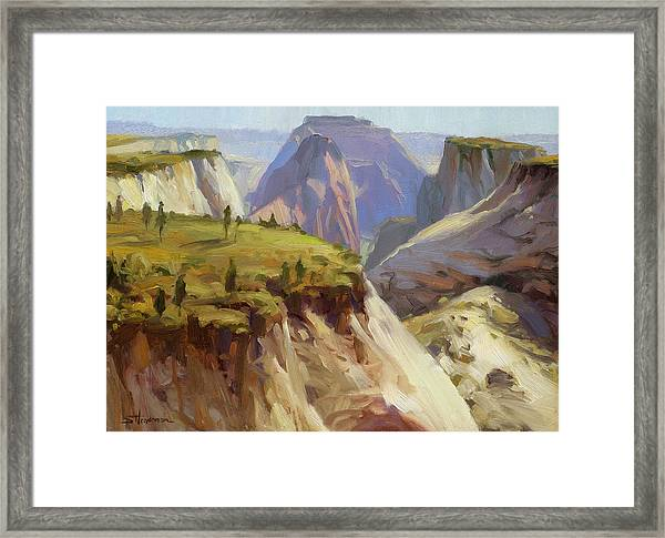 High On Zion Framed Print