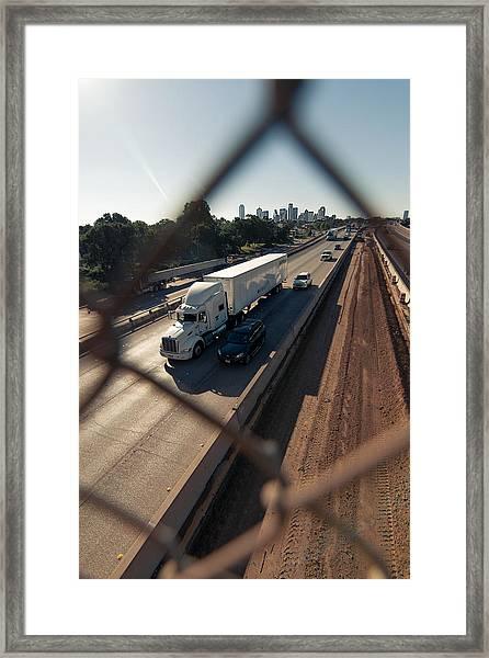 Highway Capture Framed Print