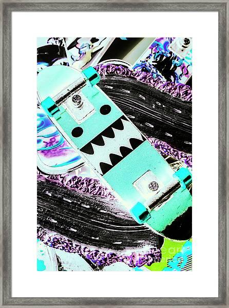 Highway Monster Decks Framed Print