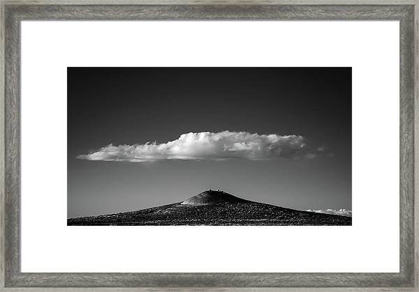 Hill And Cloud Framed Print by Joseph Smith
