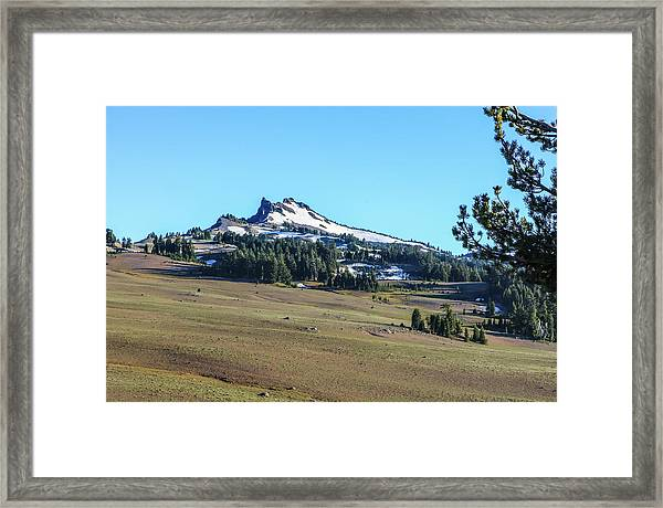 Framed Print featuring the photograph Hillman Peak Crater Lake National Park by Dawn Richards