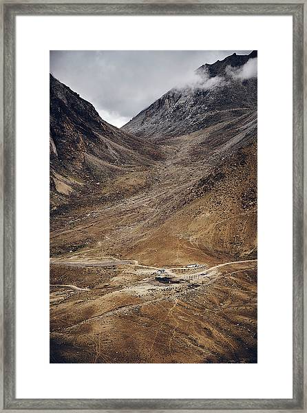 Framed Print featuring the photograph Himalayan Outpost by Whitney Goodey