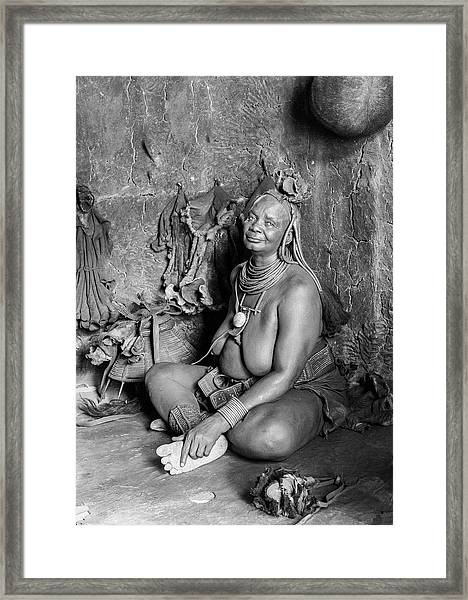 Himba Grand Mother Framed Print