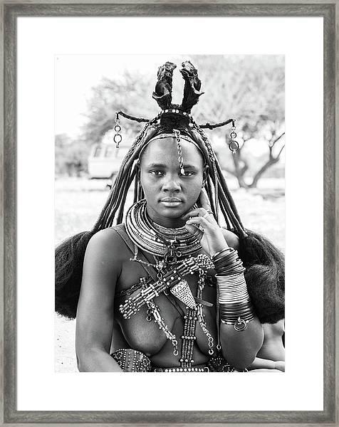 Himba Style Girl Framed Print