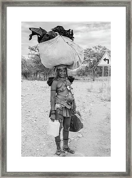 Himba Woman 3 Framed Print