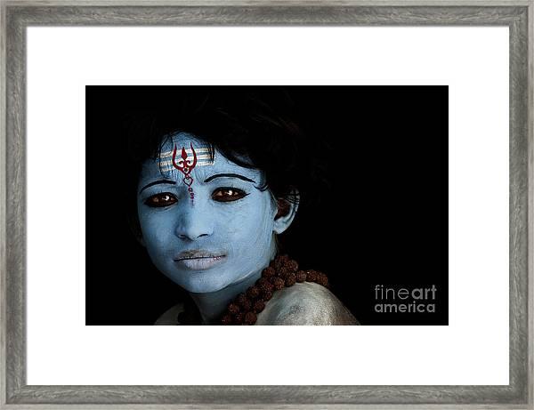 Hindu Shiva Boy Framed Print