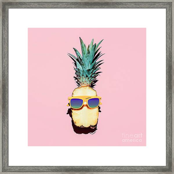 Hipster Pineapple Fashion Accessories Framed Print