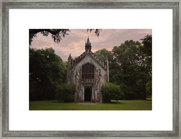 Historic Mississippi Church In The Woods Framed Print