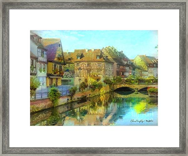 Historic Village On The Rhine Framed Print