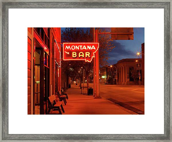 Historical Montana Bar Framed Print