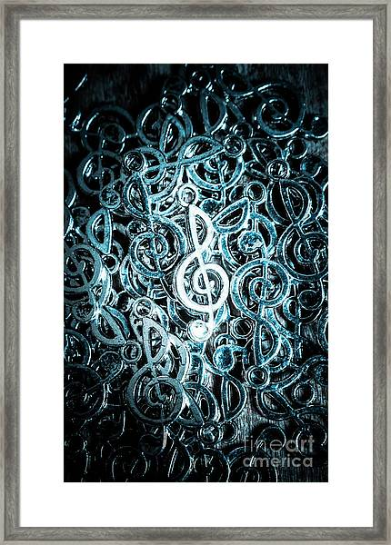 Hitting Key Harmonics  Framed Print