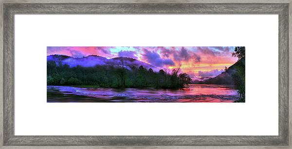 Hiwassee River Sunset Pano Framed Print
