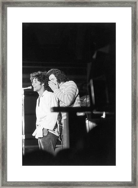 Hoffman & Sanders At 1968 Dnc Protest Framed Print by Fred W. McDarrah