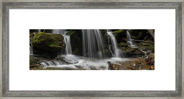 Framed Print featuring the photograph Hogcamp Branch Falls Vi 3x1 by William Dickman