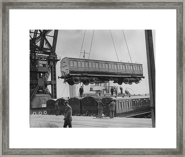 Hoisting Carriage Framed Print