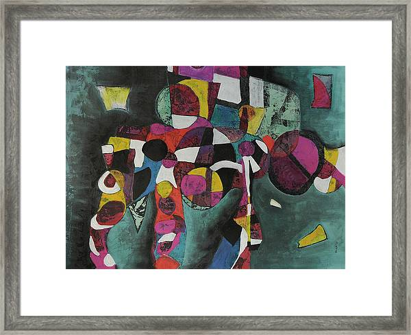 Holding Up The Equinox Framed Print