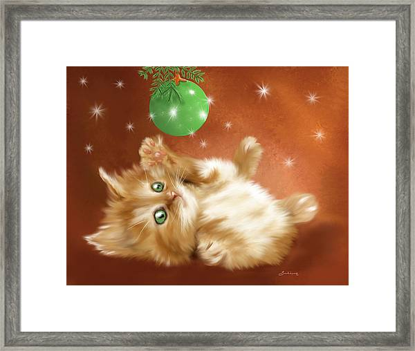 Holiday Kitty Framed Print