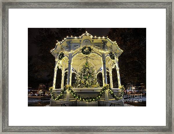 Holiday Lights - Gazebo Framed Print