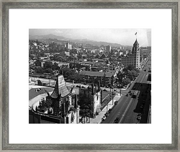 Hollywood Boulevard Framed Print