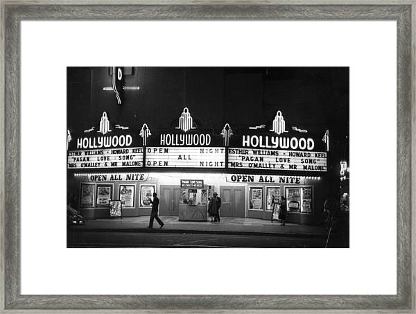 Hollywood Cinema Framed Print
