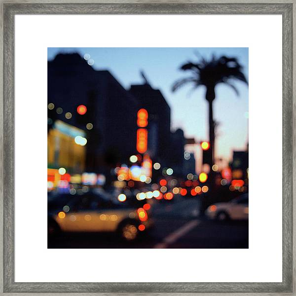 Hollywood Glitz Framed Print