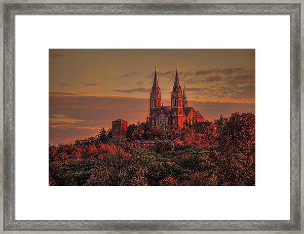 Holy Hill Sunrise Framed Print