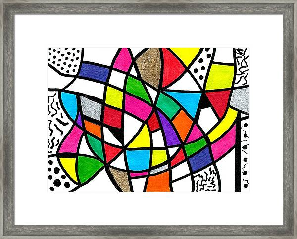 Homage To The Muses 3 Framed Print