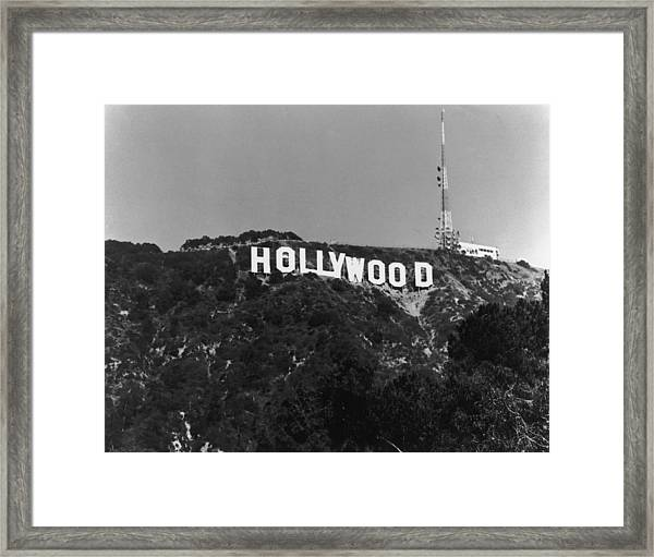 Home Of Hollywood Framed Print