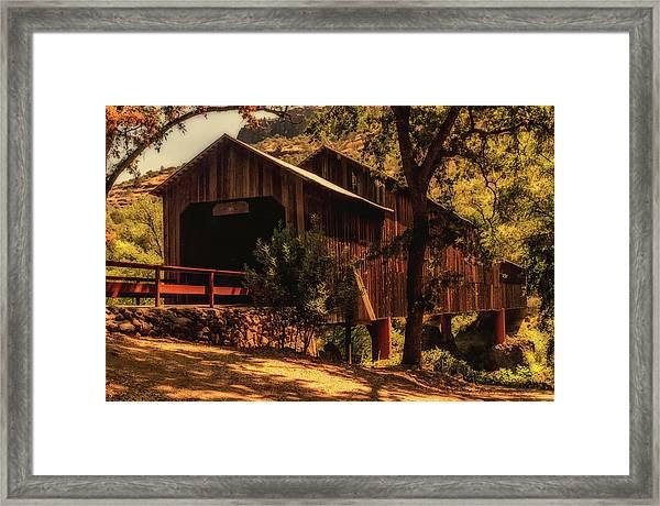 Honey Run Covered Bridge Framed Print
