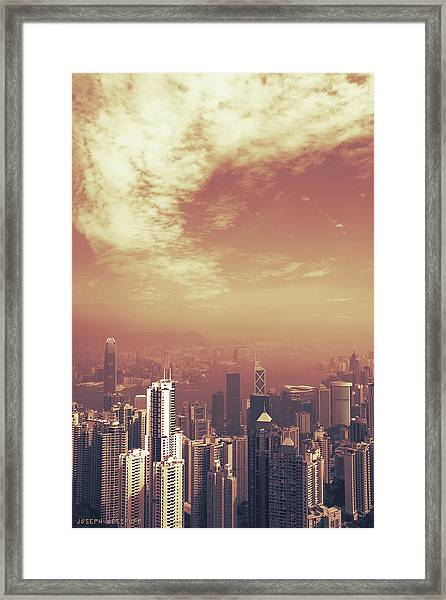 Hong Kong Portrait Framed Print
