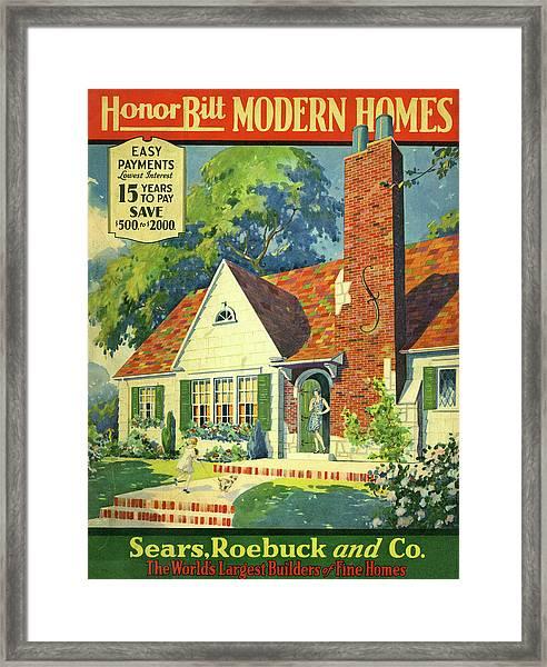 Honor Bilt Modern Homes Sears Roebuck And Co 1930 Framed Print