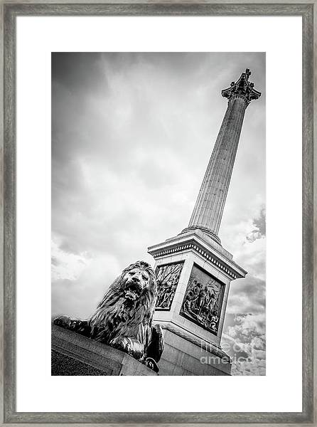 Horatio And The Lion Framed Print