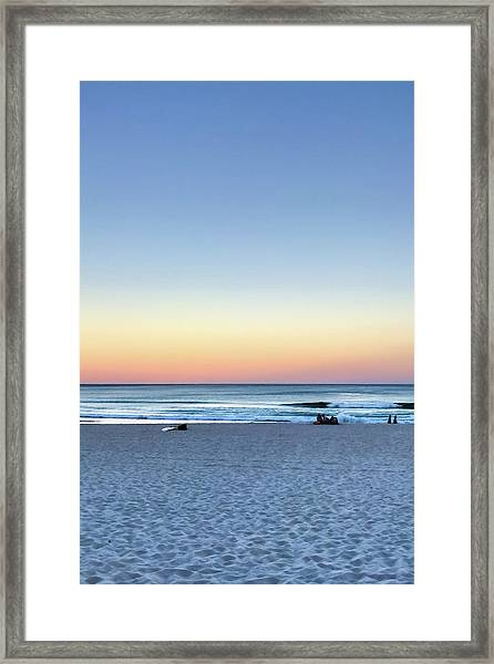 Horizon Over Water Framed Print