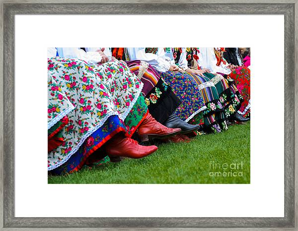 Horizontal Color Image Of Traditional Framed Print