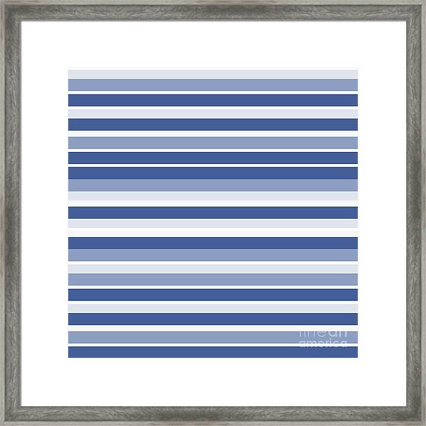 Horizontal Lines Background - Dde607 Framed Print