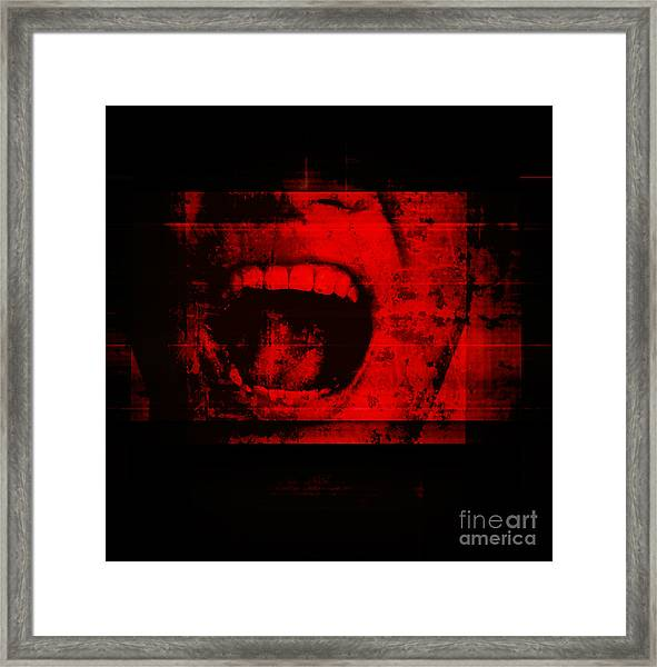 Horror Background For Movies Poster Framed Print