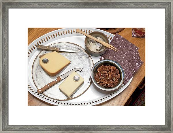 Hors Doeuvres Of Cheese, Nuts And Framed Print