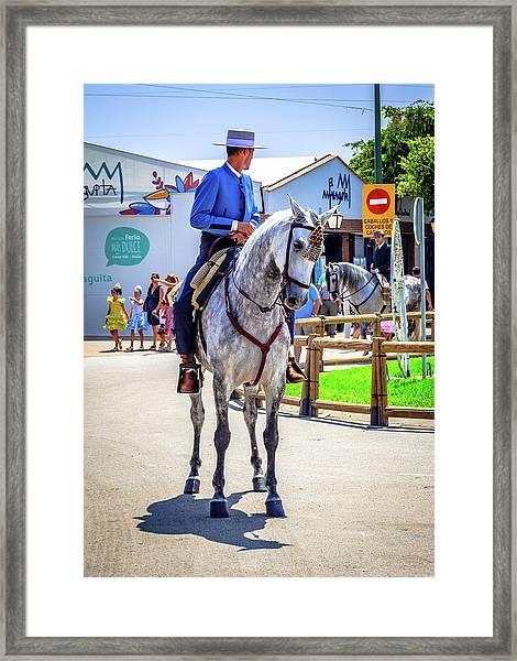 Horse Rider Framed Print