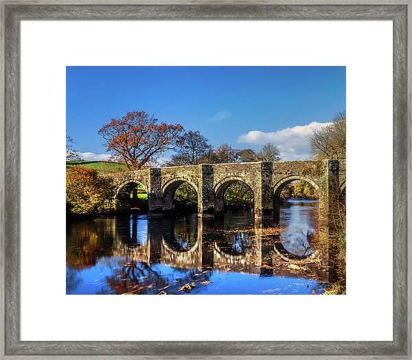 Horsebridge, River Tamar Framed Print