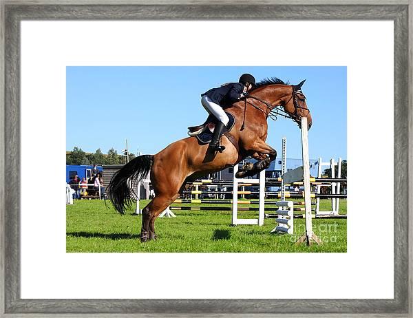 Horses Races Framed Print