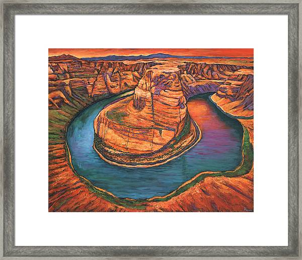 Horseshoe Bend Sunset Framed Print