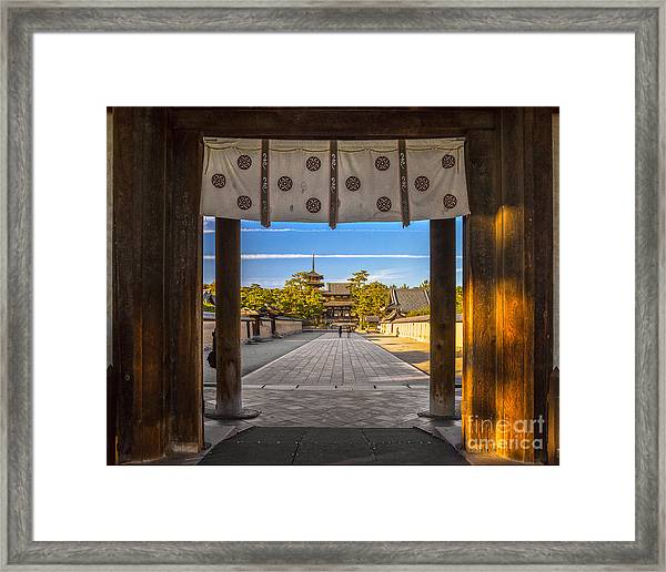 Horyu-ji Temple In Nara, Unesco World Framed Print