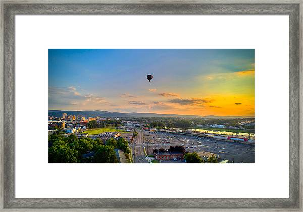 Hot Air Ballon Sunset Framed Print